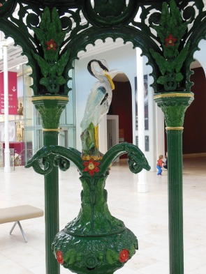 Fountain in National Museums, Scotland Crane finial