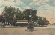Indian Chief Fountain 1907, Source: NDSU Institute for Regional Studies