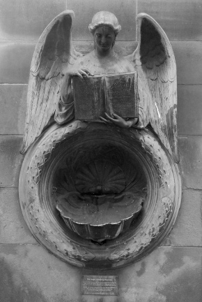 Angel Drinking Fountain Creative Commons License, Peter Hughes. Source: http://www.flickr.com/photos/sgwarnog/7395481230/