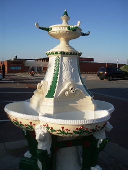 Fountain on St. Anne's Promenade http://roadmarkers.blogspot.ca/2011/11/st-annes-on-sea-water-fountains.html