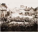 Blind Sam 1919 fountain is visible on RHS Source: Holt Town Council