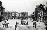 Burslem Fountain 1905 postcard. Used with permission. Source: thepotteries.org