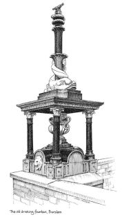 Burslem Fountain 1984 sketch. Used with permission. Source: thepotteries.org