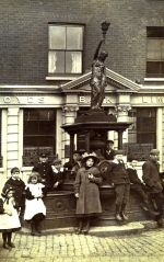 Polly on the Fountain 1918. Used with permission, Dr. Terry Daniels. Source: Oldbury Local History Group