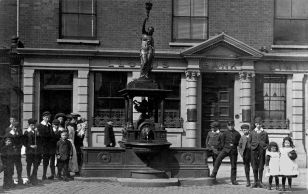 Polly on the Fountain 1919. Used with permission, Dr. Terry Daniels. Source: Oldbury Local History Group