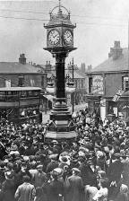 1912 unveiling at Effingham Square. Source: Facebook/Rotherham Stuff
