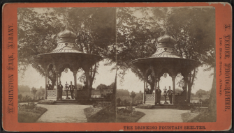 Circa 1910. Source: http://commons.wikimedia.org/wiki/File:The_drinking_fountain_shelter,_by_Aaron_Veeder.png