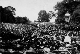 Opening of park and unveiling of fountain 1911. Used with permission. Source: http://www.conisbroughheritage.co.uk/Coronation%20Park.html