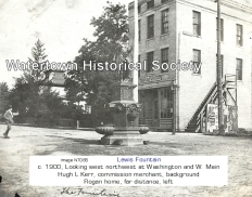 Circa 1900. Used with permission. Source: http://www.watertownhistory.org/Articles/LewisFountain.htm