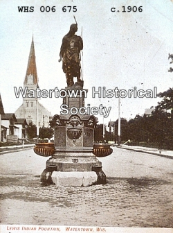 Circa 1906. Used with permission. Source: http://www.watertownhistory.org/Articles/LewisFountain.htm
