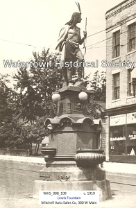 Circa 1919. Used with permission. Source: http://www.watertownhistory.org/Articles/LewisFountain.htm