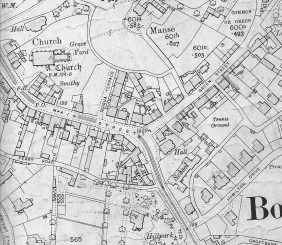 1914 OS map showing Fountain marked FN. Source: Bothwell History Society