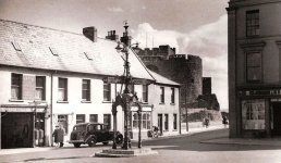 Circa 1956 - Original font with finial has been removed. Source: Facebook/OldCarrickFergus