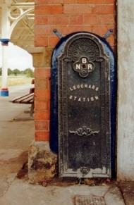 LEUCHARS RAILWAY STATION. Used with permission, John P. Bolton, Scottish Ironwork Foundation. Source: https://ironworks.scran.ac.uk/database/record.php?usi=000-002-001-091-C&scache=4lt5aahiug&searchdb=ironworks_scran